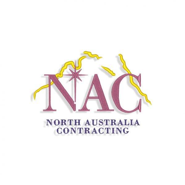 NAC logo Embroidery design