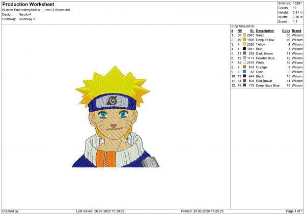 Naruto Embroidery design