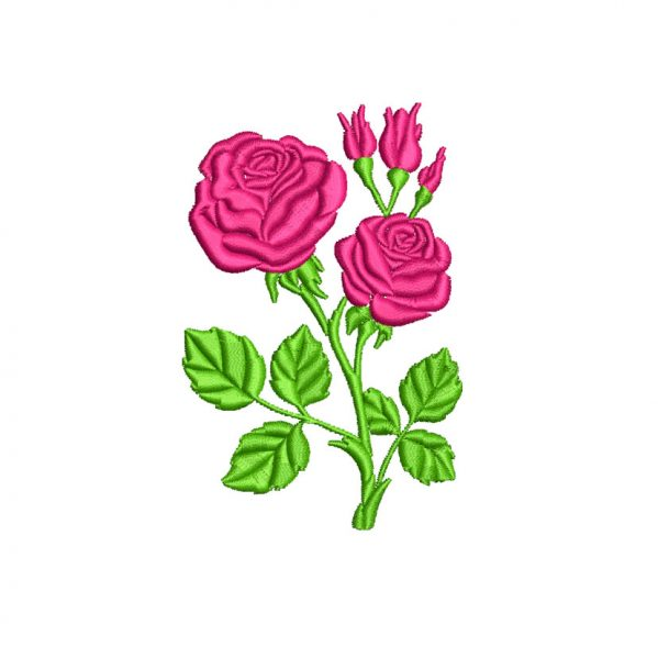 Rose Flower Embroidery