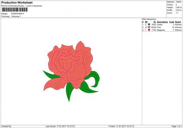 Rose Flower Embroidery design