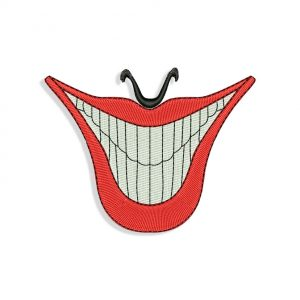 Joker Mouth for face mask Embroidery design