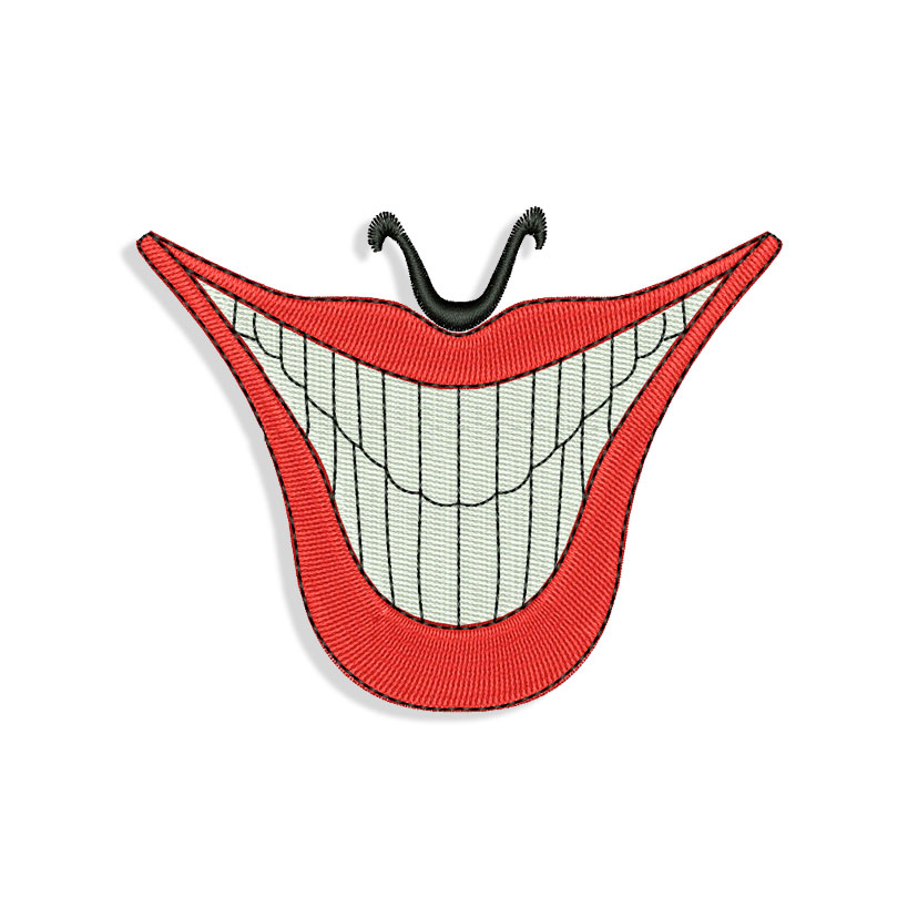 Mouth Embroidery design files