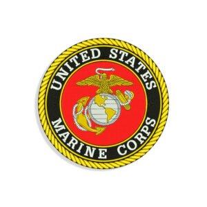 US Marine logo Embroidery design