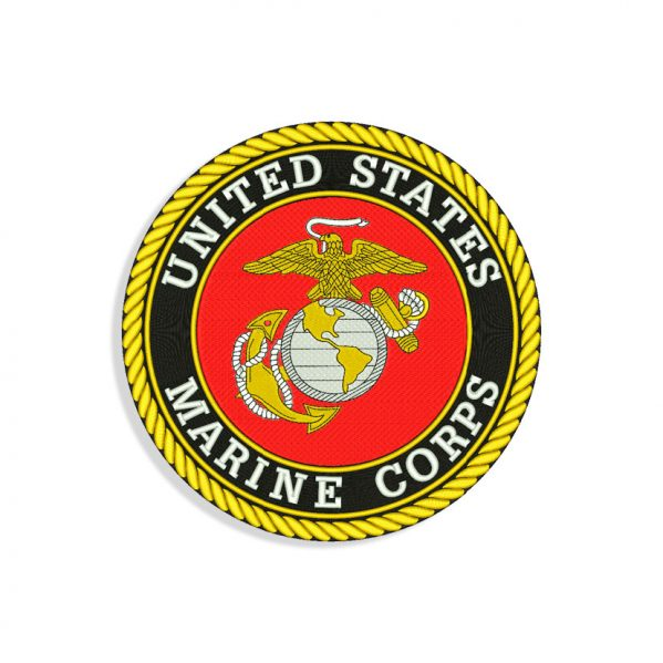 US Marine logo Embroidery design