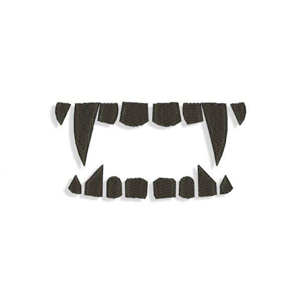 Vampire Teeth Embroidery