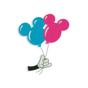 Mickey Mouse Balloons Embroidery design