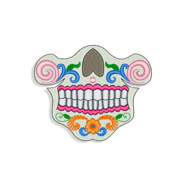 Calavera Skull for Mouth mask Embroidery design
