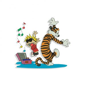 Calvin and Hobbes Embroidery design