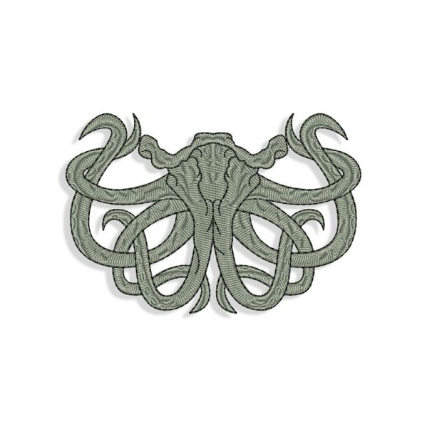 Davy Jones Mouth for Mouth mask Embroidery design