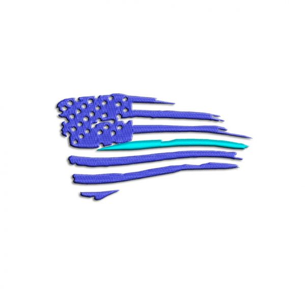 Thin Blue Line USA Flag Embroidery design
