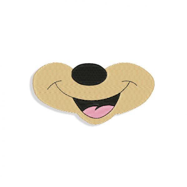 Mickey Mouse Mouth Embroidery design