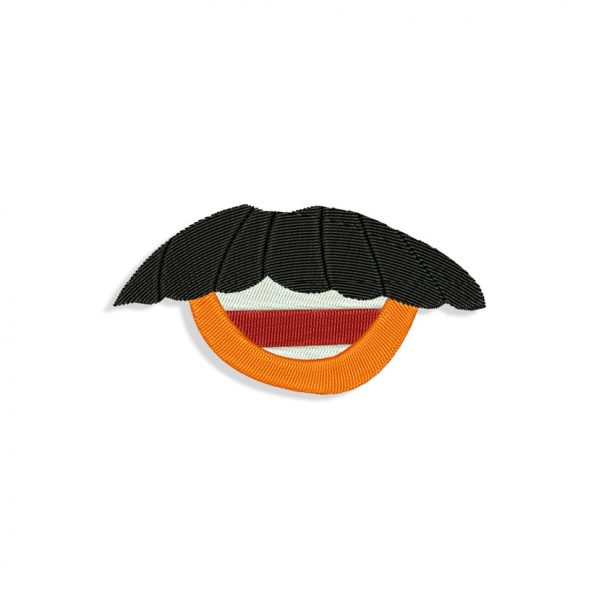 Mr Potato Head Mouth for Mouth mask Embroidery design