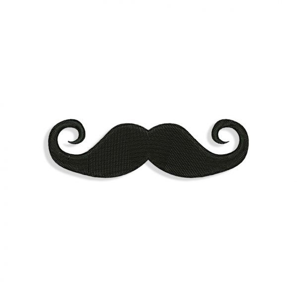 Mustache for Mouth mask Embroidery design