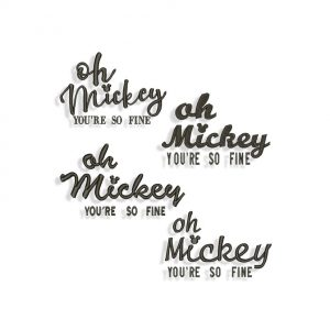 Oh Mickey You So Fine Embroidery design