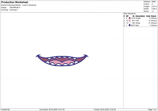 Lilo & Stitch Smile for Mouth mask Embroidery design