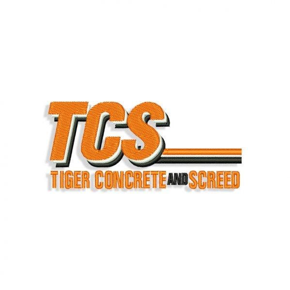 TCS logo Embroidery design