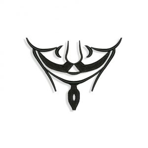 Guy Fawkes Vendetta mask for Mouth mask Embroidery design