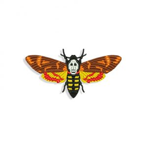 The Silence Of The Lambs Butterfly for Mouth mask Embroidery design