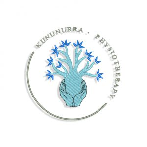 Kununurra Physiotherapy logo Embroidery design