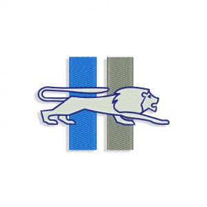 Detroit Lions embroidery design