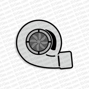 Turbocharger SVG files