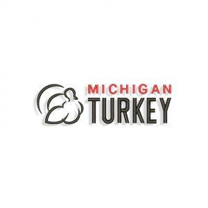 Michigan Turkey logo Embroidery design