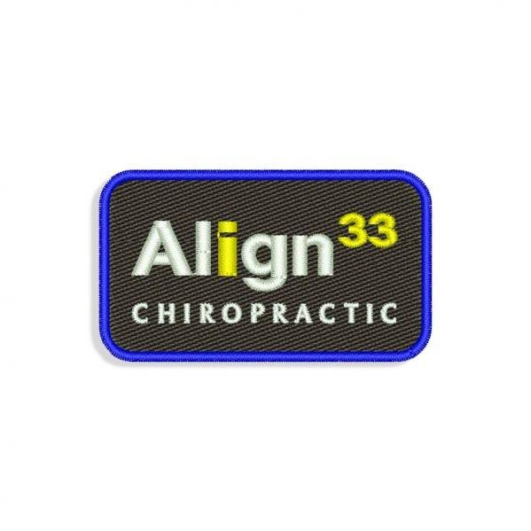 Align 33 logo Embroidery design