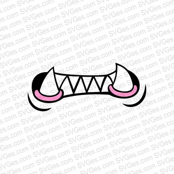 Mouth and Fangs SVG files