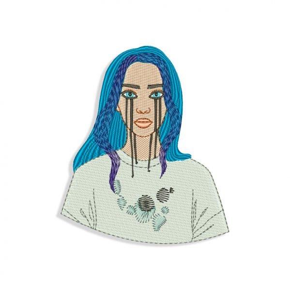 Billie Eilish Embroidery design