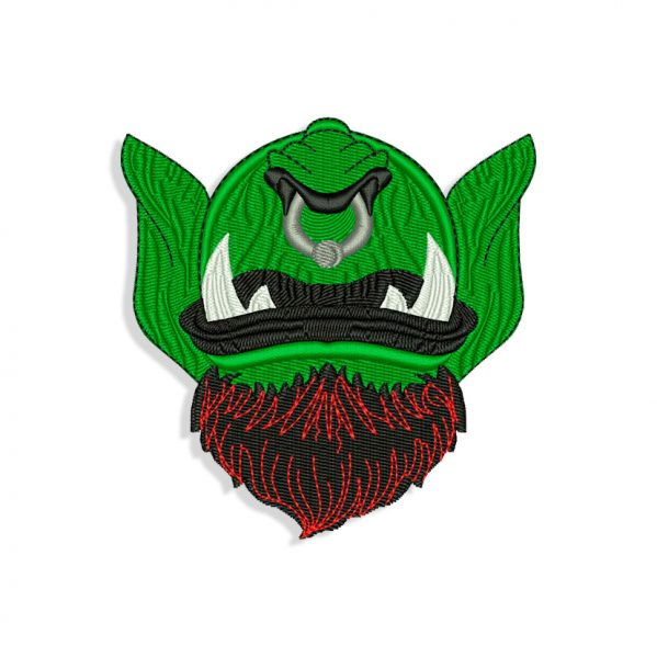 Orc Mouth and Beard for Mouth mask Embroidery design