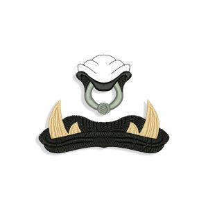 Orc Mouth for Mouth mask Embroidery design