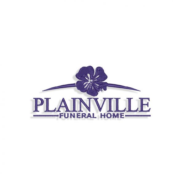 Plainville logo Embroidery design