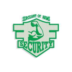 Security logo Embroidery design