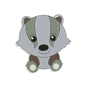 Baby Badger Embroidery design