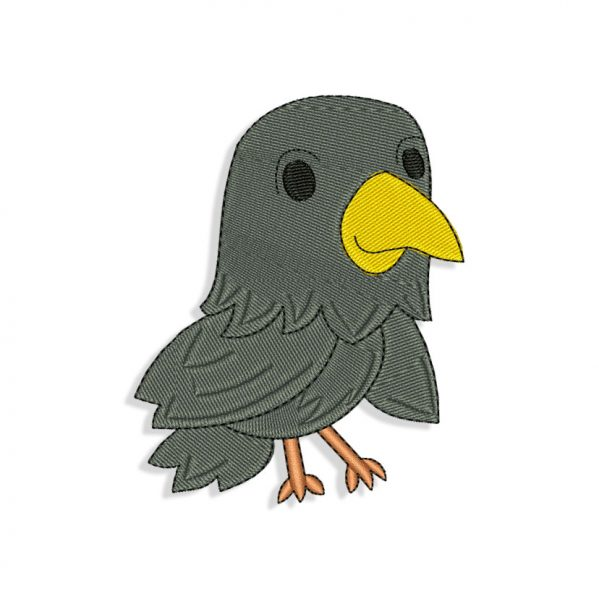 Baby Raven Embroidery design