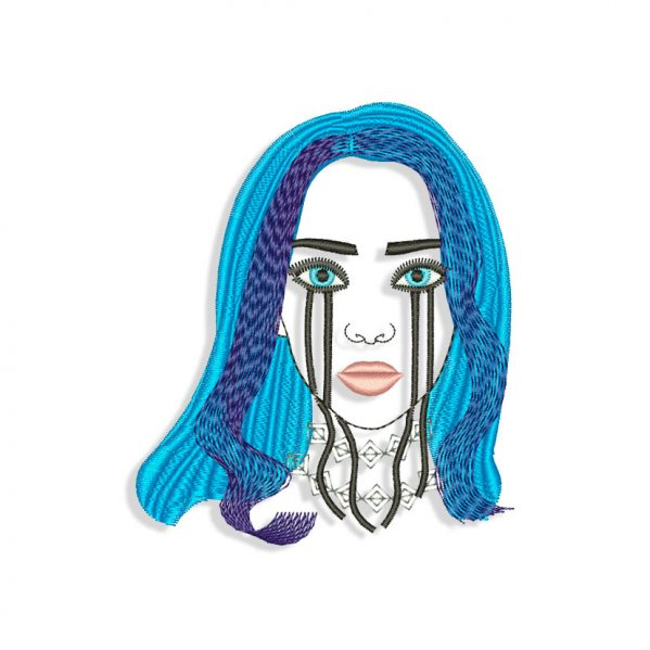 Billie Eilish Embroidery design