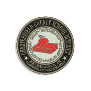 Chesterfield County School embroidery design