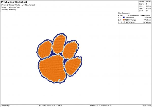 Clemson Tigers embroidery design