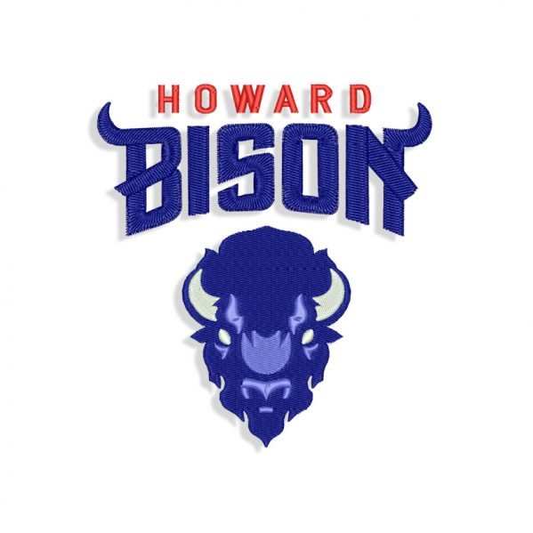 Howard Bison Embroidery design
