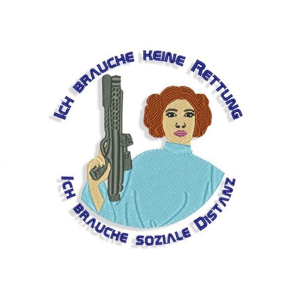 Princess Leia Embroidery design