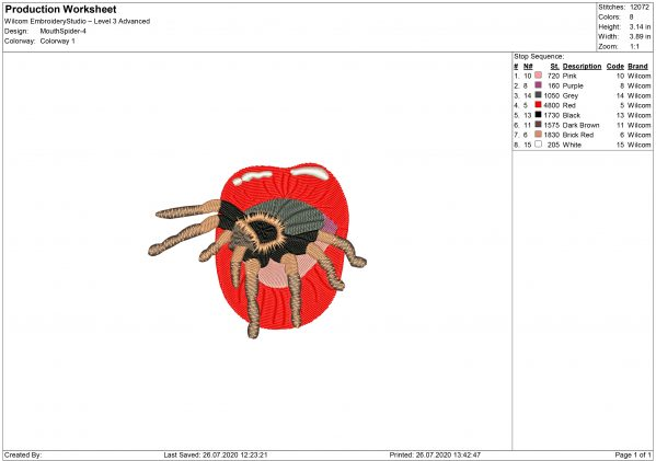 Billie Eilish Spider Mouth for Mouth mask Embroidery design
