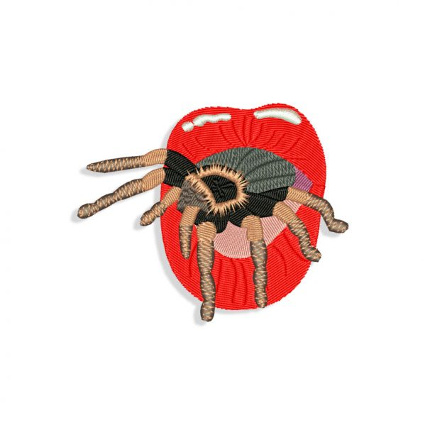 Billie Eilish Spider Mouth for Mouth mask Embroidery design files for Machine embroidery