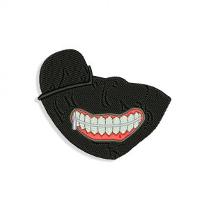 Tokyo Ghoul Mouth for Mouth mask Embroidery design
