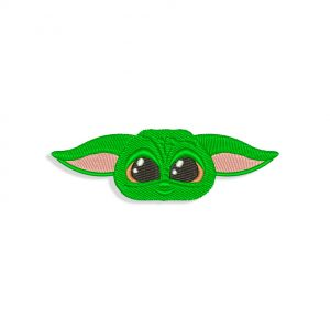 Baby Yoda Face Embroidery design