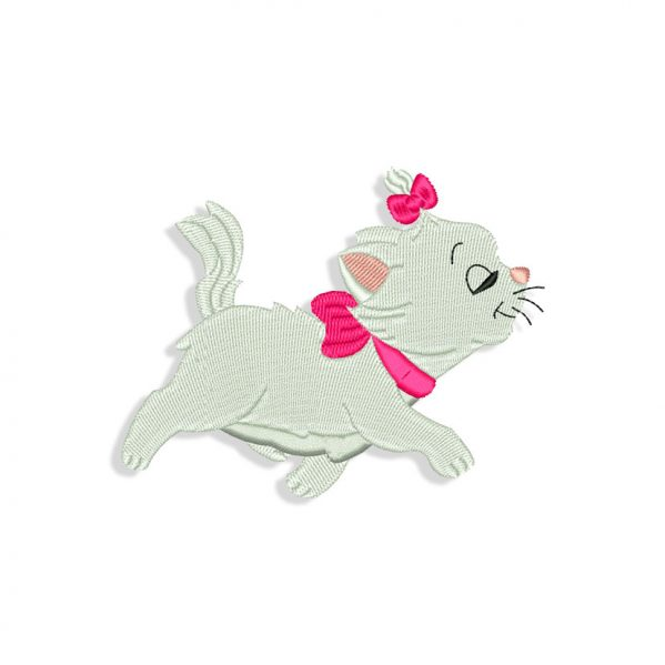 Baby Marie Cat Embroidery design