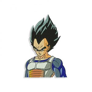 Dragon Ball Z Vegeta Embroidery design