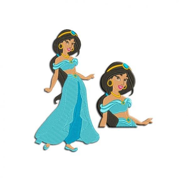 Princess Jasmine Embroidery design