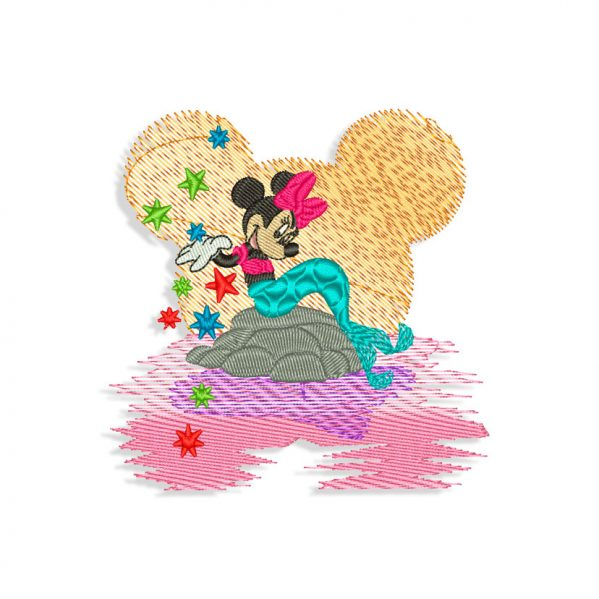 Minnie Mouse Little Mermaid Embroidery design