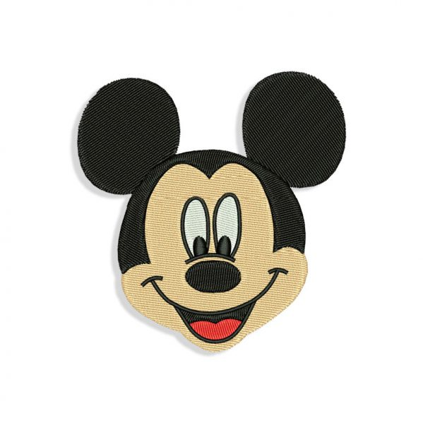 Mickey Mouse Face Embroidery design