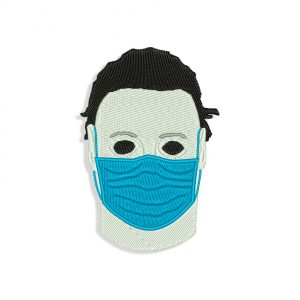 Mike Myers Face Mask Embroidery design